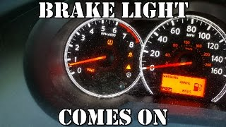 BRAKE LIGHT COMES ON AND OFF 2007-2012 NISSAN ALTIMA