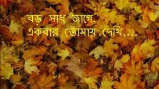 Boro Shaadh Jaage Ekbar Tomay Dekhi