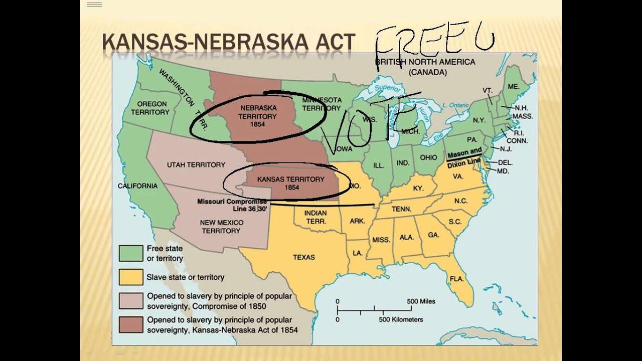Road to Civil War: Kansas-Neska Act Kansas Neska Act Map on