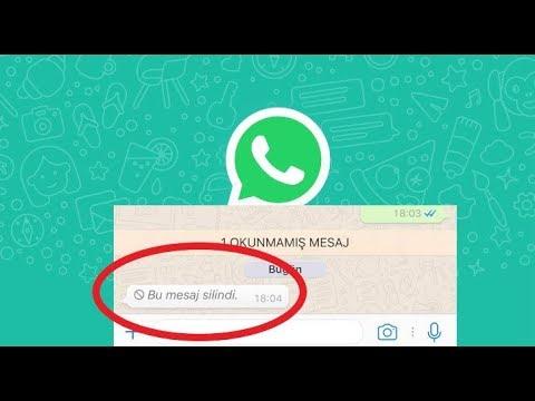 Whatsapp Herkesten Silinen Mesajlari Nasil Görebiliriz  2018