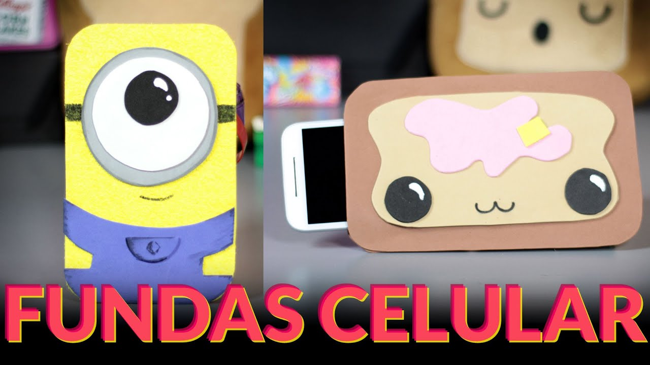 Manualidades con goma eva fundas para celulares minion y - Fundas de goma eva ...
