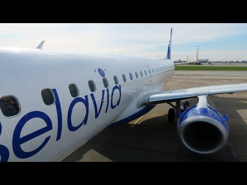 Новый Embraer 195 а/к Белавиа | Рейс Минск - Москва (Шереметьево)