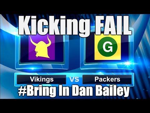 VIKINGS PACKERS TIE 29-29 - A Kicker Curse? (Called It!) #BringInDanBailey