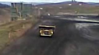 Dump truck drifting