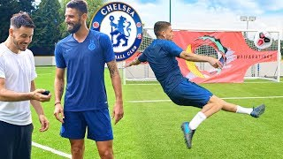 CHELSEA FC SHOOTING CHALLENGE  FT GIROUD JORGINHO amp EMERSON  FIFA 20 RATINGS