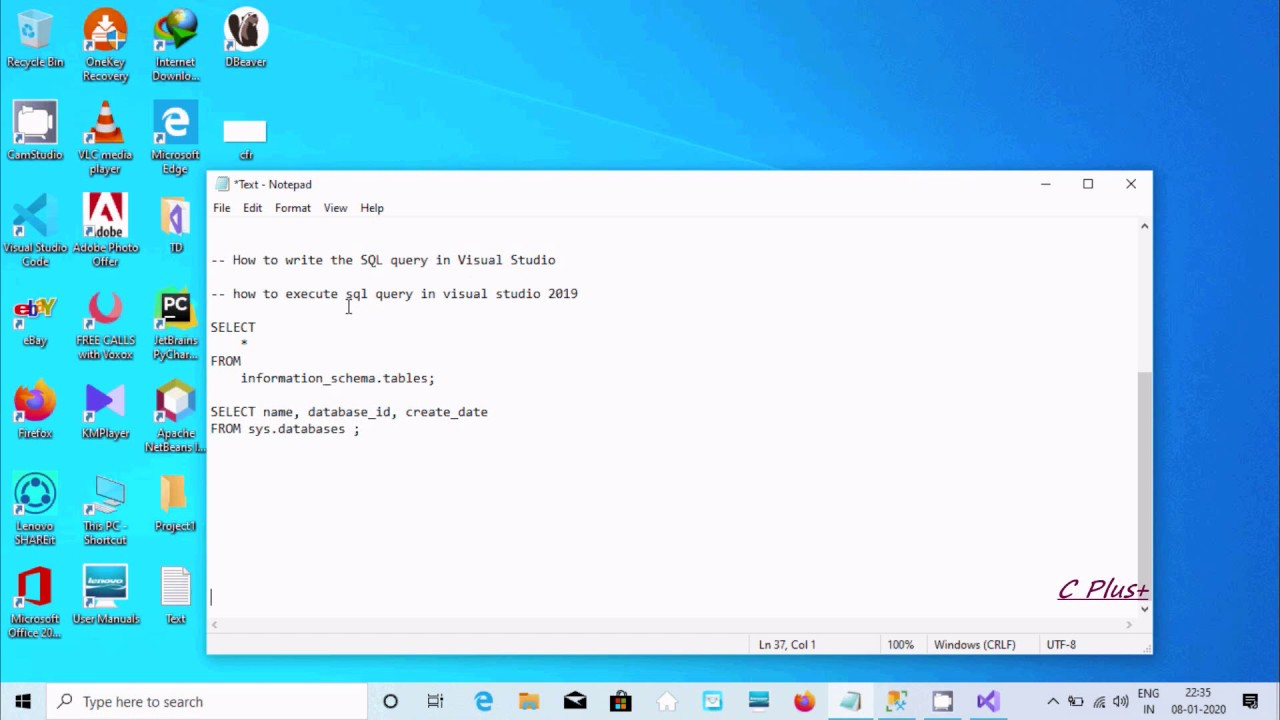 how to write sql query in visual studio  youtube