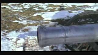 4 9inch cannon 16 pounder test fire wmv