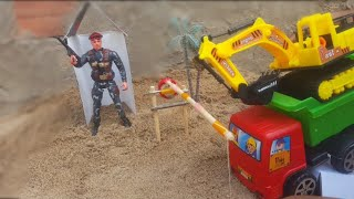 #26_Truck car excavator for kids toys /ជីកកាយដឹកខ្សាច់