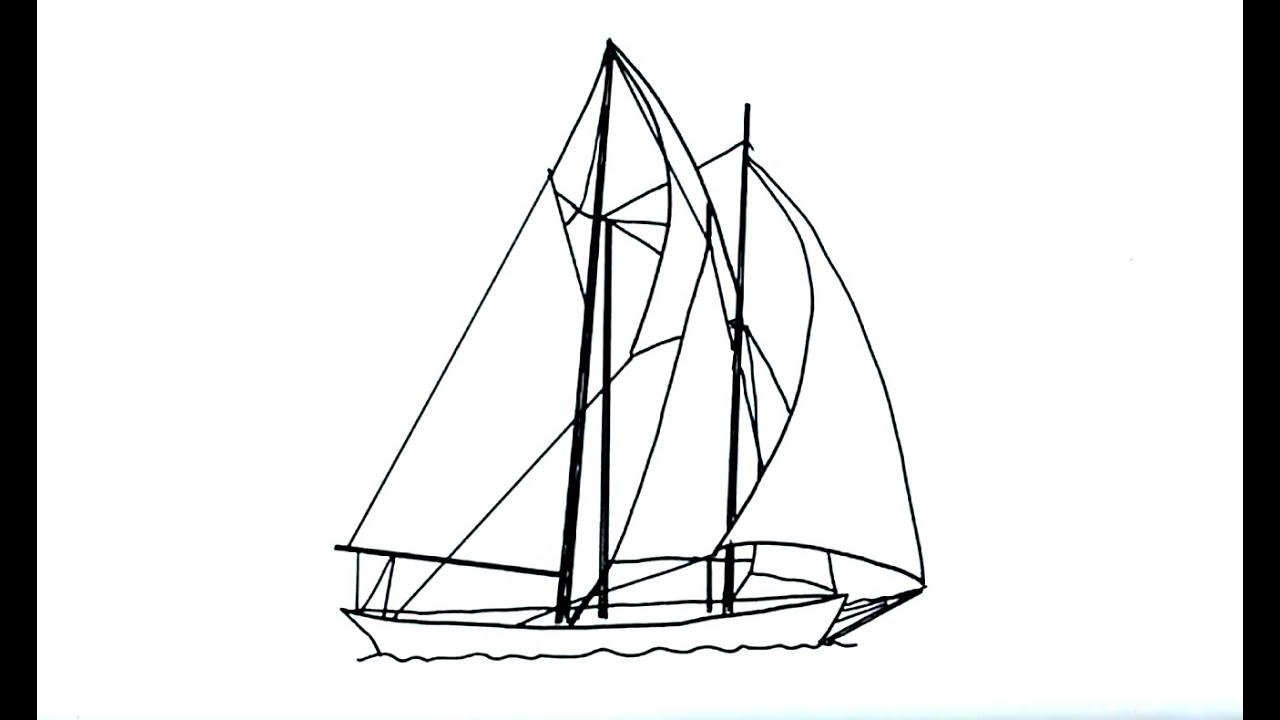 Easy Drawing Boat Clipper Ship Clip Art Cliparts Co Printables