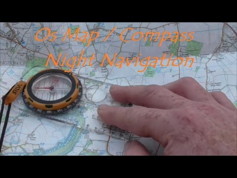 Compass/OS map Night Navigation on cold frosty morning