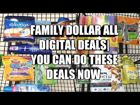 FAMILY DOLLAR ALL DIGITAL DEALS| YOU CAN DO THESE DEALS NOW