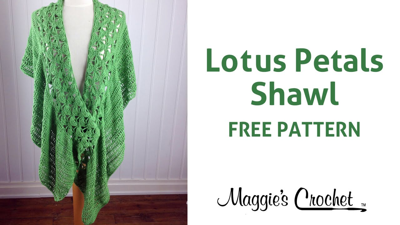 Lotus Petals Shawl Free Crochet Pattern - Right Handed - YouTube
