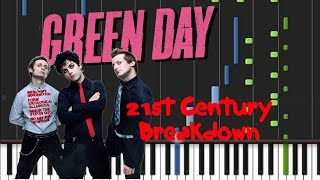Green Day - 21st Century Breakdown [Piano Cover Tutorial] (♫)
