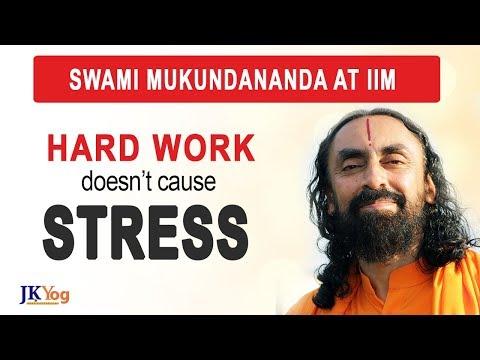 Hard Work is Not the Cause of Stress | Swami Mukundananda Talks to IIM Students on Stress-Free Life