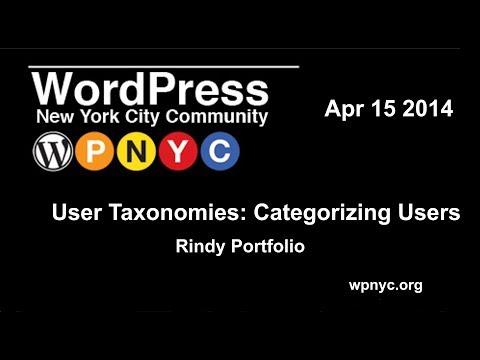 User Taxonomies: Categorizing Users - Rindy Portfolio