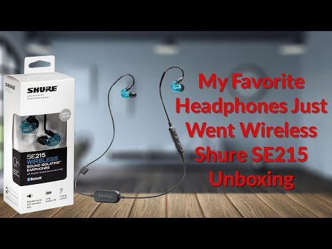 My Favorite Headphones Just Went Wireless Shure SE215 Unboxing - YouTube Tech Guy