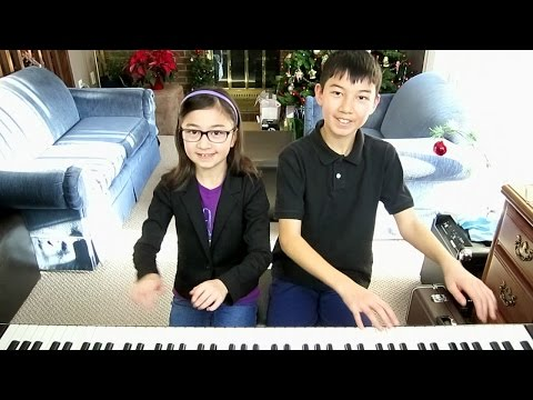 Up On The Housetop  4 hands piano duet