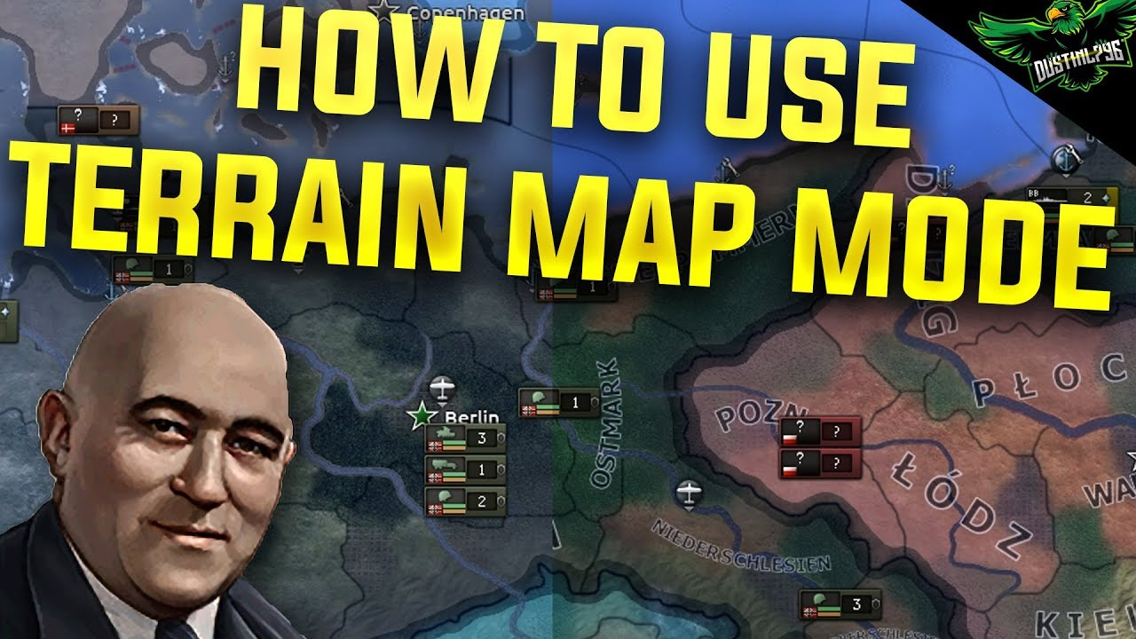 HOI4 How to Use the Terrain Map Mode (Hearts of Iron 4 Man