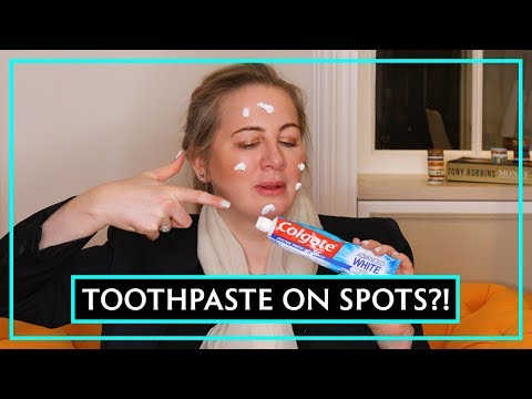 Dr Debunks: Does Toothpaste Get Rid Of Spots?