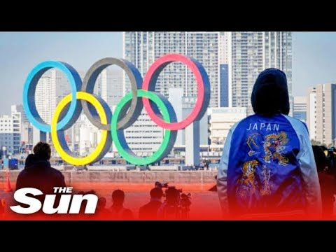 Crowds gather outside Tokyo Olympics 2020 opening ceremony arena
