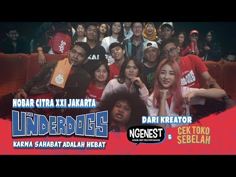 THE UNDERDOGS Nobar di Citra XXI Jakarta