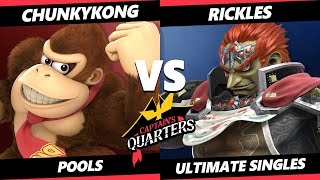 Captain's Quarters 5 SSBU - Rickles (Ganondorf) Vs. ChunkyKong (Donkey Kong) Smash Ultimate Pools