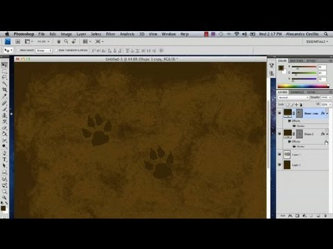 How to Draw Tracks in Dirt With Photoshop : Photoshop Tutorials