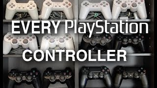 Evolution of PlayStation Controllers: 25 Years Across PS1, PS2, PS3, PS4.