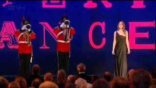 """Hayley Westenra singing the National Anthem of the United Kingdom """"God Save The Queen"""" to open the 2011 Royal Variety Performance in the presence of ..."""