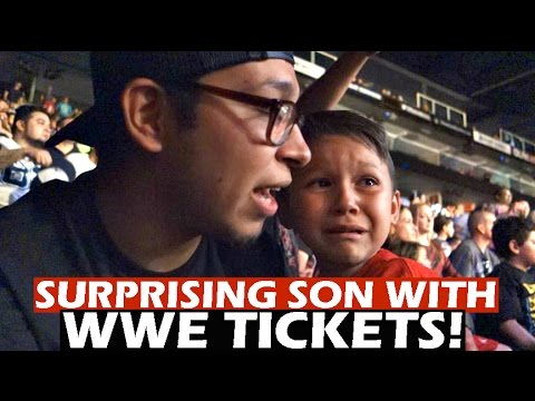 SURPRISING SON WITH WWE RAW TICKETS! | BEST REACTION!