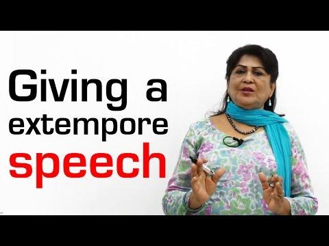 Giving a Extempore Speech || Spoken English Basic for Beginners