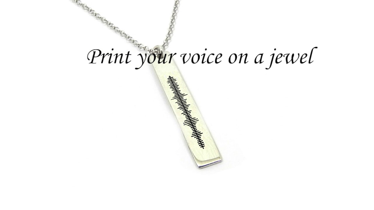 91bc642fb Print your voice on a jewel - Sound wave jewelry - YouTube