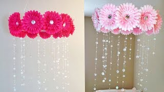 Beautiful Paper Roses Wind Chime DIY | Wall Hanging | Paper Craft For Home Decor