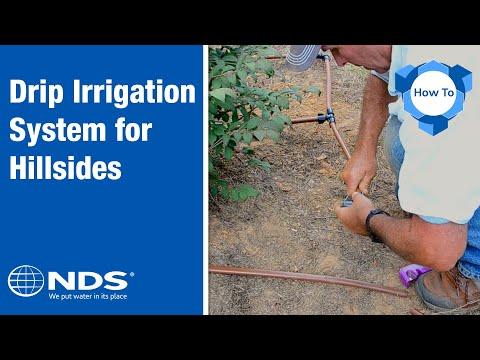 How Do You Install A Dripline Irrigation System On A Hillside?