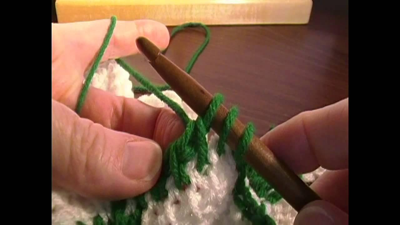 Entrelac Crochet Blanket Part 15, the border - YouTube