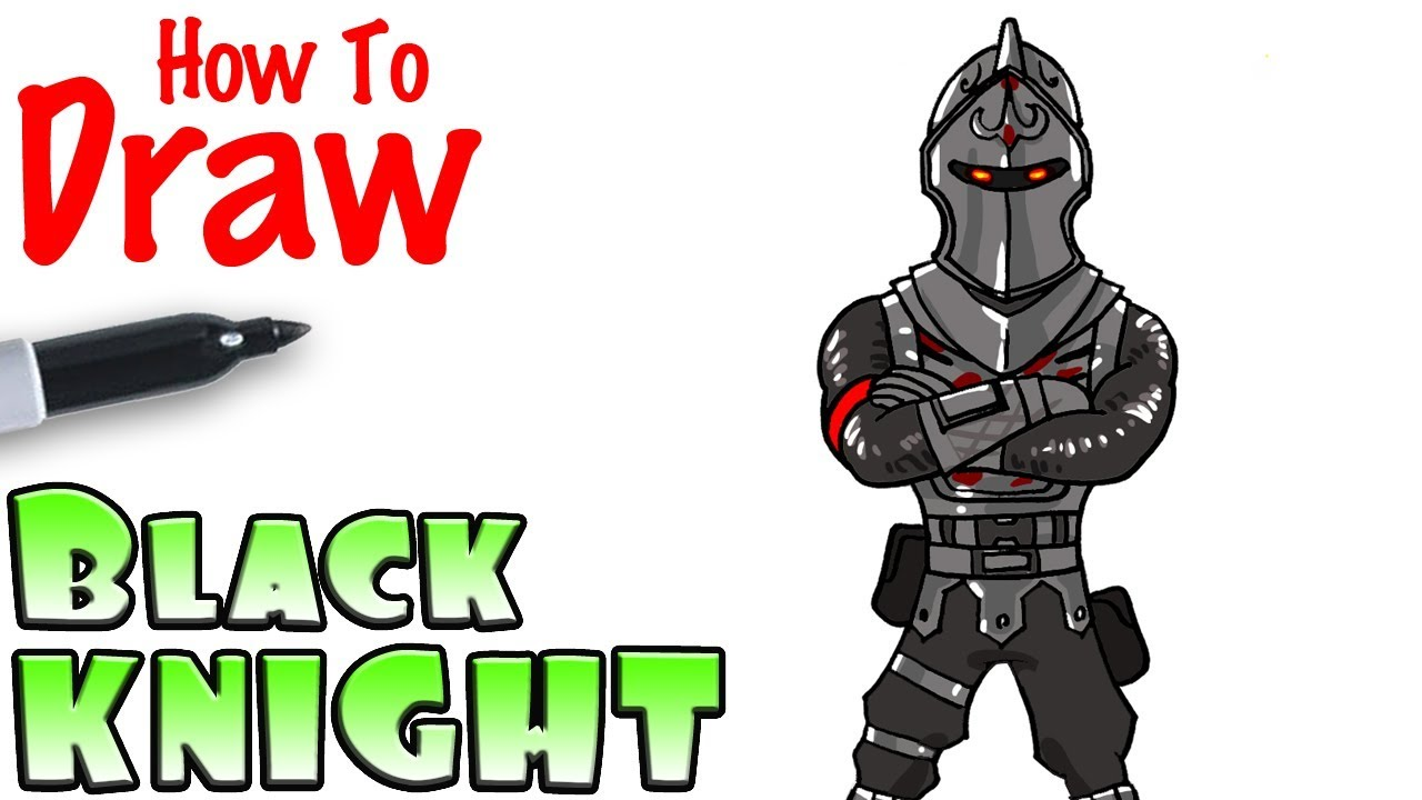 How To Draw The Black Knight Fortnite Youtube