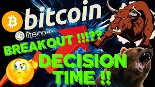 🌟BITCOIN DECISION TIME (BREAKOUT??)🌟bitcoin litecoin price prediction, analysis, news, trading