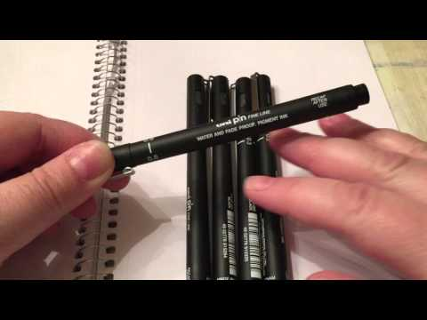 Uni Pin Fine Line pens för Pyssloteket