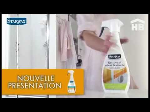 le nettoyant anti calcaire cabine de douche de starwax sur home youtube. Black Bedroom Furniture Sets. Home Design Ideas