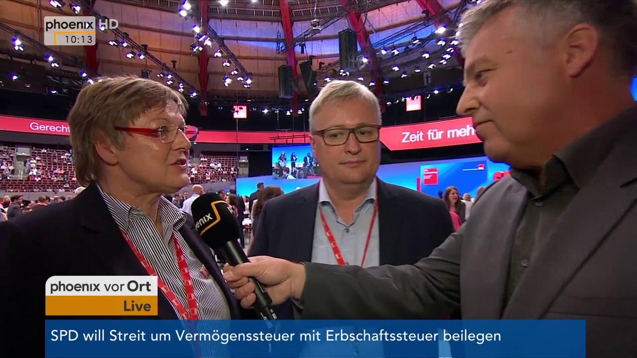 Bundesparteitag der SPD: Interview mit Kirsten Eickhoff-Weber und ...