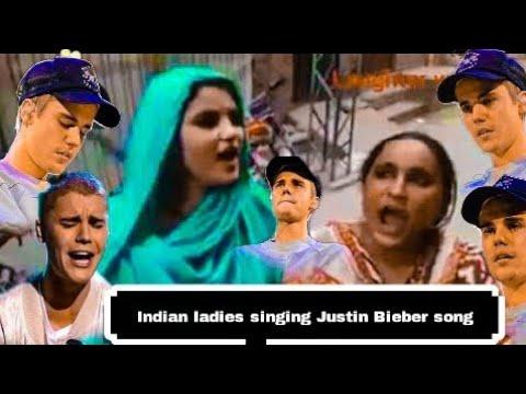 Indian ladies singing Justin bieber song baby|Justin bieber funny|indian version Justin