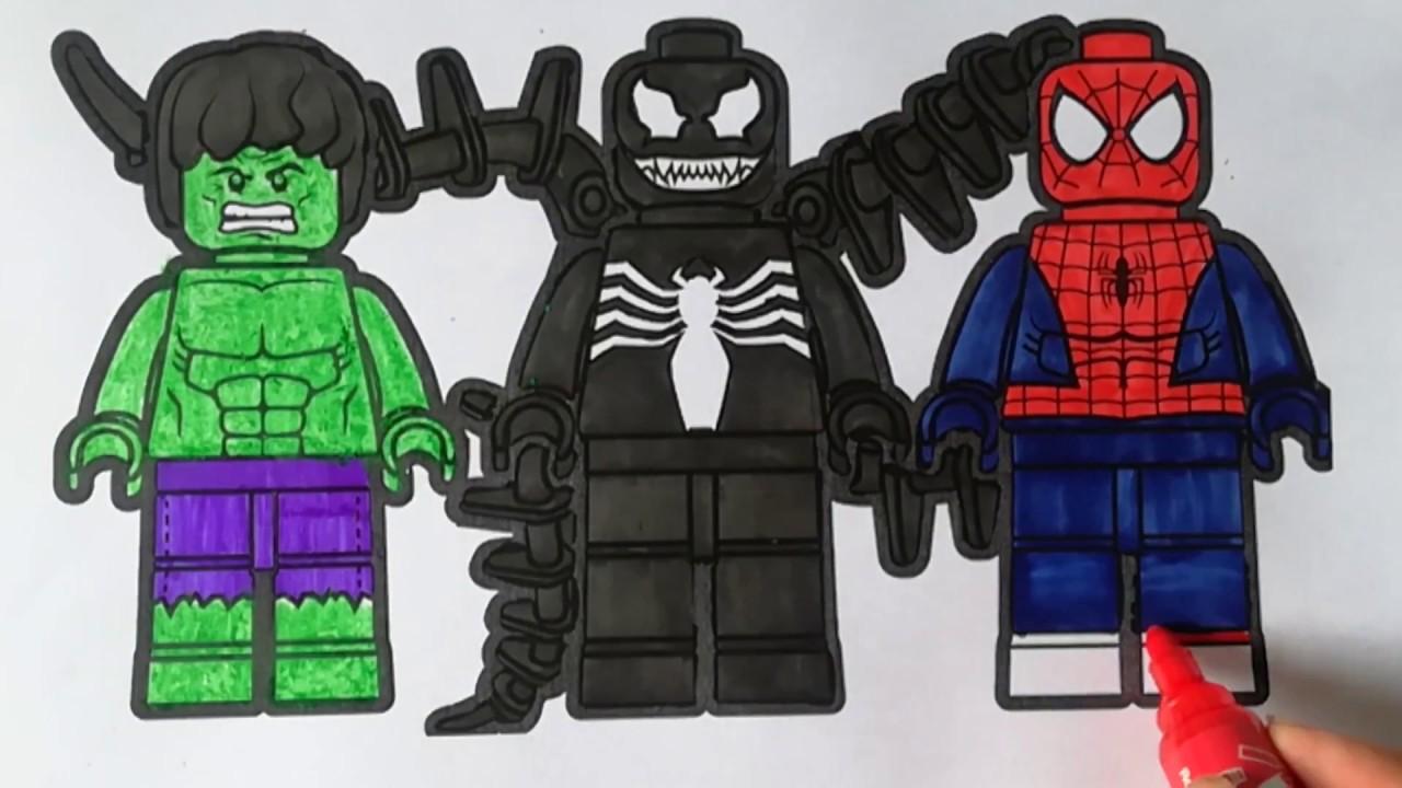 Lego Spider Man Vs Hulk Vs Venom Spider Man Coloring Pages Sailany Coloring Kids