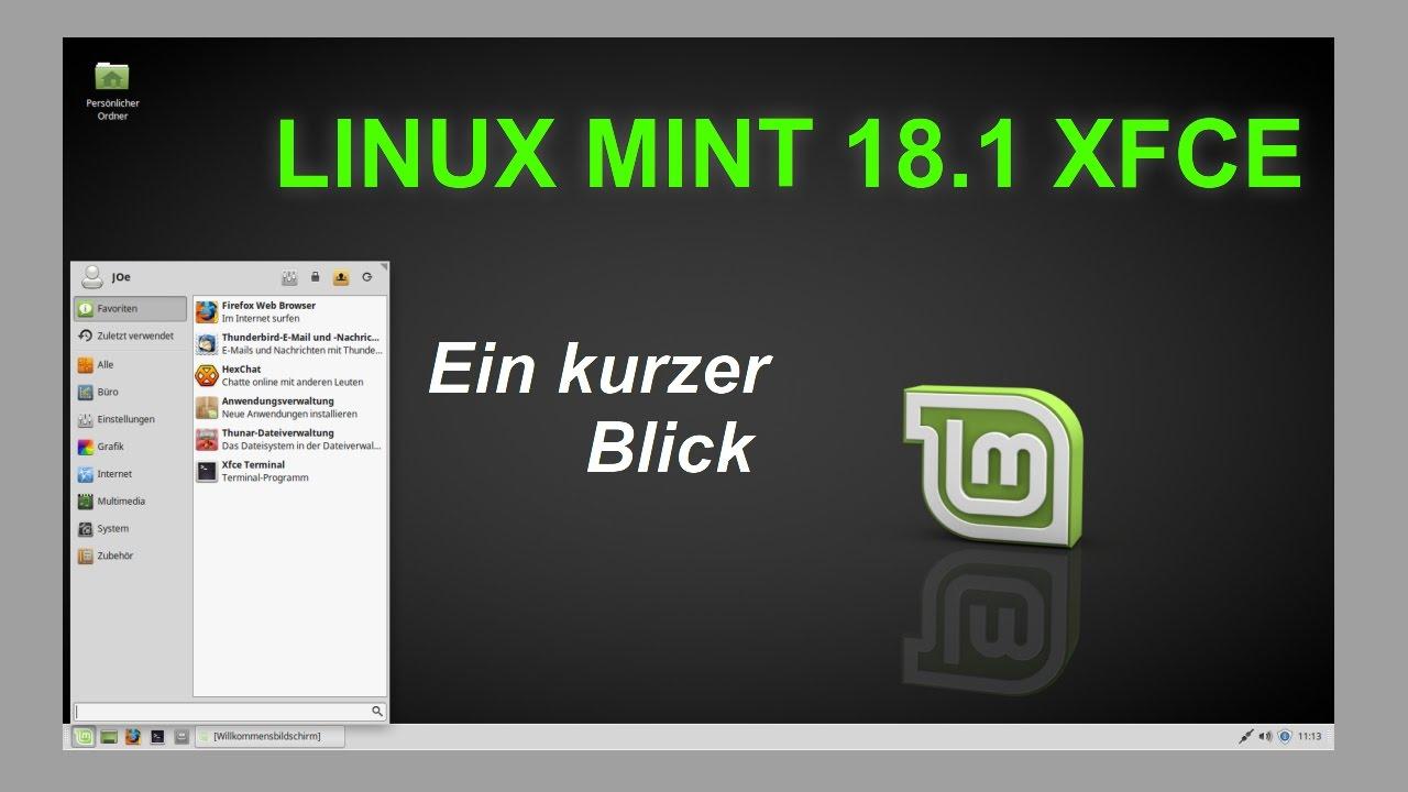 Linux Mint 18.1 Serena XFCE - Ein kurzer Blick | Deutsch ...