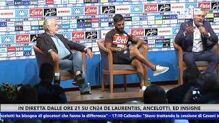 Folgarida 2018: De Laurentiis, Insigne ed Ancelotti incontrano i tifosi