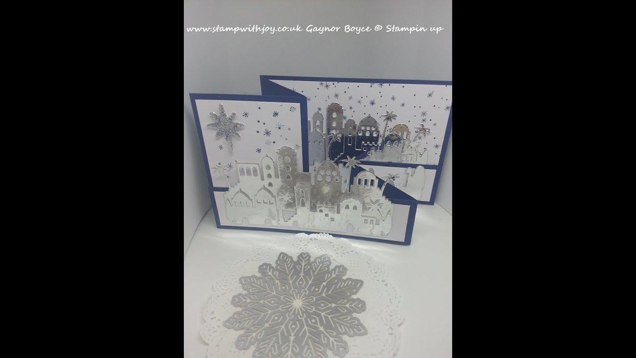 Night in Bethlehem double z fold card Stampin up - ViYoutube