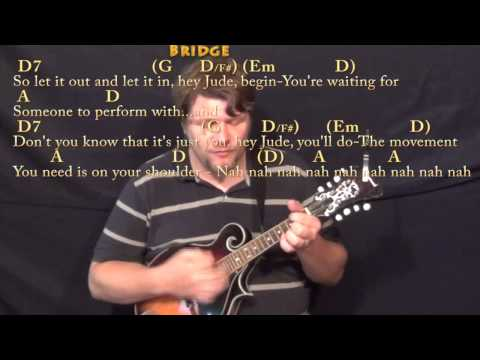 Mandolin mandolin chords ho hey : Hey Jude (The Beatles) Mandolin Cover Lesson in D with Chords ...