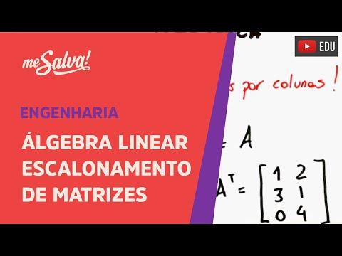 Me Salva! Álgebra Linear - Escalonamento de matrizes para solucionar um sistema linear