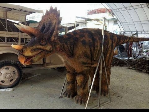 b0ffb5d7b1633 4 legs Triceratops dinosaur costume for 2 people - YouTube