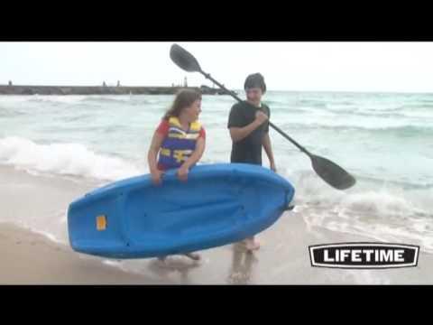 Lifetime 6 Ft Wave Youth Kayak W/Paddle - Blue 90097 - KitSuperStore.com