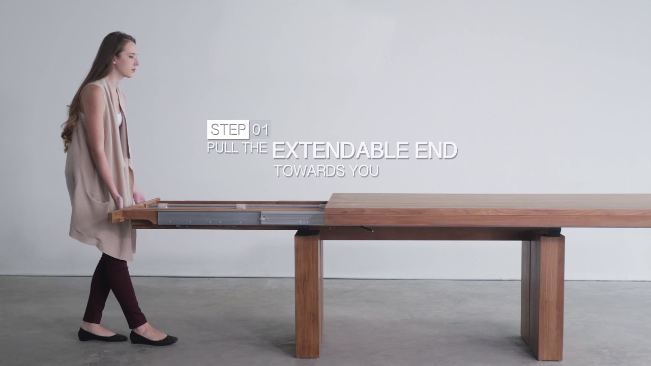 How To Open The Double Extendable Dining Table Soul Tables Youtube
